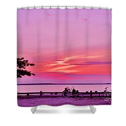 Shower Curtain featuring the photograph Summer Down The Shore by Susan Carella