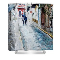 Down The Street Shower Curtain