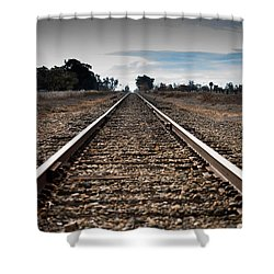 Down The Track Shower Curtain