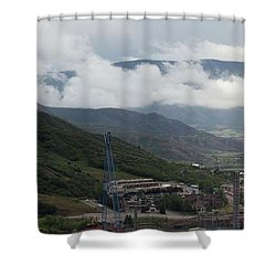 Down The Valley At Snowmass #3 Shower Curtain