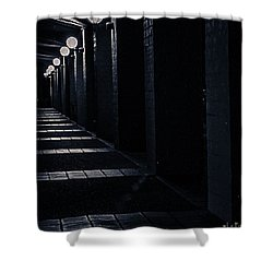 Down The Walkway Shower Curtain
