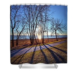 Shower Curtain featuring the photograph Down This Way We Meander by Phil Koch