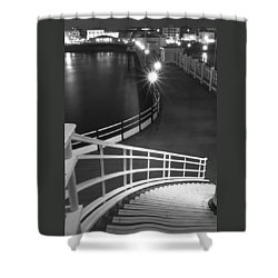 Down To The Pier Shower Curtain by Hazy Apple