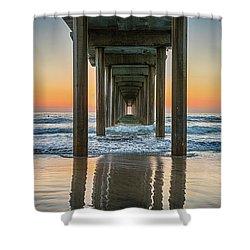 Down Under Scripp's Pier  Shower Curtain