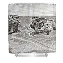 Down Under  Shower Curtain