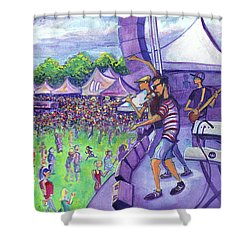 Down2funk At Arise Shower Curtain by David Sockrider