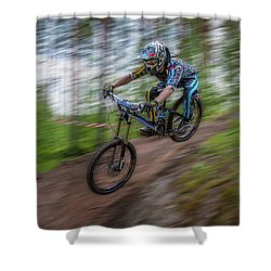 Downhill Race Shower Curtain