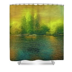 Downriver Glow Shower Curtain