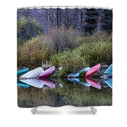 Downtime At Beaver Lake Shower Curtain by Alana Thrower