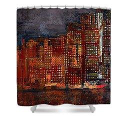 Downtown Shower Curtain by Alex Galkin