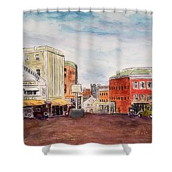 Downtown Amesbury Ma Circa 1920 Shower Curtain