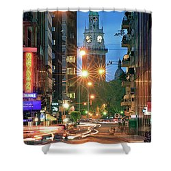 Shower Curtain featuring the photograph Downtown by Bernardo Galmarini