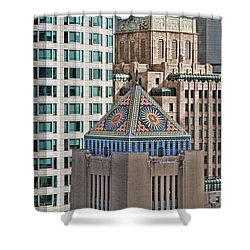 Shower Curtain featuring the photograph Downtown Blend by Kim Wilson