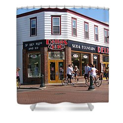 Downtown Cape May New Jersey Shower Curtain by Rod Jellison