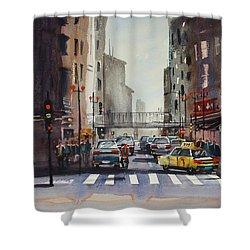 Downtown Chicago Shower Curtain by Ryan Radke