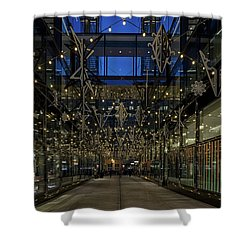 Downtown Christmas Decorations - Washington Shower Curtain