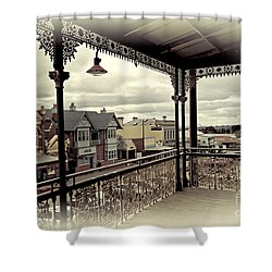 Shower Curtain featuring the photograph Downtown Daylesford II by Chris Armytage