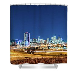 Downtown Denver Under The Stars Shower Curtain