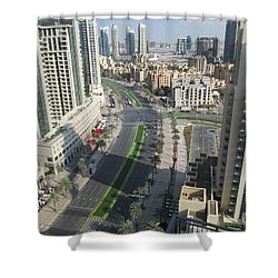 Shower Curtain featuring the photograph Downtown Dubai by Marie Neder