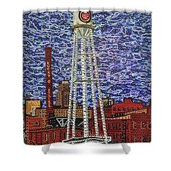 Downtown Durham Shower Curtain by Micah Mullen