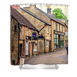 Shower Curtain featuring the photograph Downtown In The Cotswolds by Wallaroo Images