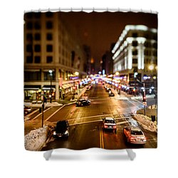 Downtown In The Itty-bitty City Shower Curtain