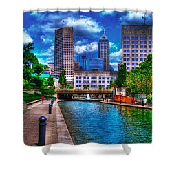 Downtown Indianapolis Canal Shower Curtain