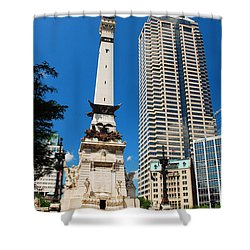 Downtown Indy Shower Curtain by James Kirkikis
