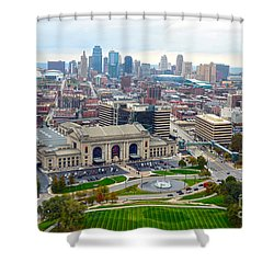 Downtown Kansas City From Liberty Memorial Tower Shower Curtain