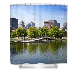 Downtown Montreal In Summer Shower Curtain