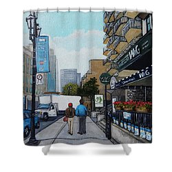 Downtown Montreal Shower Curtain