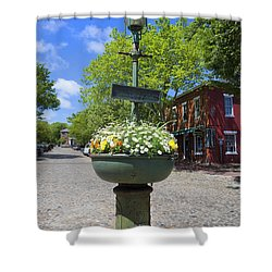 Downtown Nantucket - Garden View 46y Shower Curtain