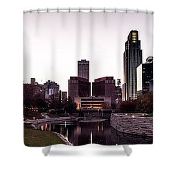 Downtown Omaha At Sunset Shower Curtain