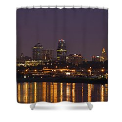 Downtown Reflections Shower Curtain