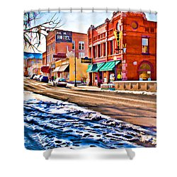 Downtown Salida Hotels Shower Curtain