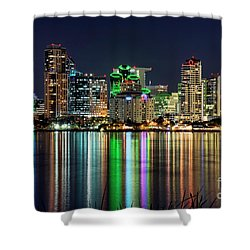 Downtown San Diego Shower Curtain by Eddie Yerkish