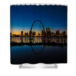 Downtown St. Louis And The Gateway Arch Shower Curtain