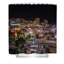 Downtown Tacoma Night Shower Curtain