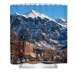 Downtown Telluride Shower Curtain by Darren White