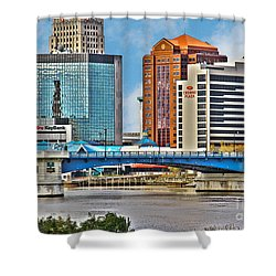Downtown Toledo Riverfront Shower Curtain