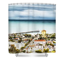 Downtown Ventura And Pier Shower Curtain