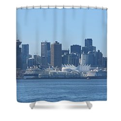 Downtown View From North Vancouver Shower Curtain