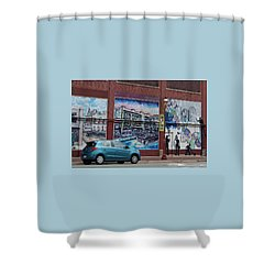 Downtown Winston Salem Series I  Shower Curtain by Suzanne Gaff