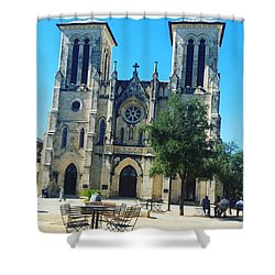 Cathedral Of San Fernando Shower Curtain by Danielle Recoder