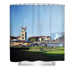 Dp World Tour Championship 2015 - Open Edition Shower Curtain by Mark Robinson