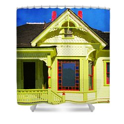 Shower Curtain featuring the photograph Dr. Clark's House 2 by Timothy Bulone