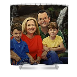 Dr. Devon Ballard And Family Shower Curtain by Glenn Beasley