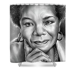 Dr Maya Angelou Shower Curtain