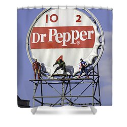 Dr Pepper And The Avengers Shower Curtain