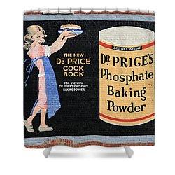 Dr. Prices Phosphate Baking Powder On Brick Shower Curtain